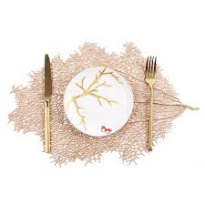 Buy 1Pc <b>Nordic Style</b> Artificial <b>Coral</b> Branch Place Mat Heat ...