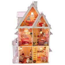 hot sale diy doll house wooden miniatura doll houses miniature dollhouse with furniture kit villa led lights birthday gift x 001 aliexpresscom buy 112 diy miniature doll house