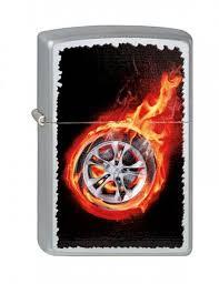 <b>Зажигалка Zippo Tire</b> On <b>Fire</b> (<b>205 Tire</b> On <b>Fire</b>) серебристая