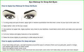 makeup for deep set eyes