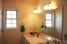 bathroom light fixtures with large mirror ideas and double vessel sink full size bathroom lighting ideas double