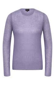 Женский <b>сиреневый</b> свитер <b>GIORGIO ARMANI</b> — купить за 47450 ...