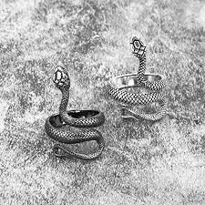 <b>1 Piece</b> European New Retro Punk Exaggerated Spirit Snake Ring ...