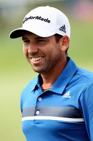 Sergio Garcia of Spain smiles after completing the 17th hole during the second round of The Barclays at Liberty National Golf Club on August 23, ... - Sergio%2BGarcia%2BBarclays%2BRound%2B1%2BkAMWi2ir5nTl