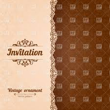 vintage invitation retro cards vector image rfclipart vintage invitation card template damsk or nt and curly border vector image