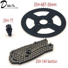 <b>25H</b> Chain 144 Links, <b>25H</b> 68 teeth Rear Sprocket ,7 teeth sprocket ...