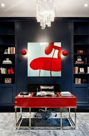 20 home offices that turn to red for energy and excitement beautiful home office chalkboard