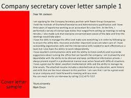 2 company secretary cover letter cover letter for a secretary position