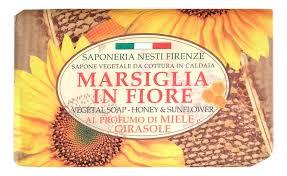 <b>Мыло Marsiglia In Fiore</b> Honey & Sunflower Soap 125г (мед и ...