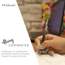 khaadi smc pvt linkedin if you have a flair for writing and hold a bachelor s degree in journalism advertising or any relevant field at least 6 years of work experience