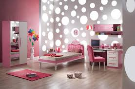 l amusing girls room ideas with cool polka dots wallpaper themes and single bed plus study desk be equipped pink fabric chair also pink small rugs on amusing cool kid beds design