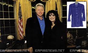 Image result for bill clinton scandal stained dress