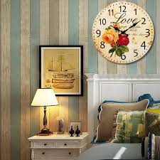 retro shabby chic home office wooden wall clock vintage shabby retro style shabby chic rustic home chic vintage home office