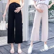 <b>Pregnant women's pants</b> new <b>nine</b>-point <b>pants</b> wide-leg <b>pants</b> tide ...