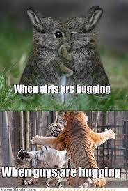 When-girls-are-hugging-When-guys-are-hugging.jpg via Relatably.com
