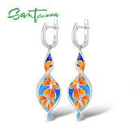 Enamel <b>Earrings</b> - <b>SANTUZZA</b> Official Store - AliExpress