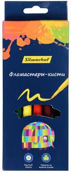 <b>Фломастеры Silwerhof Цветландия</b> пулевидный 8цв. 867220-08 ...