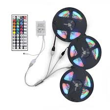 Buy <b>3x5M 2835 RGB</b> LED Strip Light with 44 Key IR Controller 1 to 3 ...