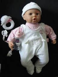 19 <b>Baby Annabell</b> Doll by <b>Zapf Creations</b> 2002 with Pacifier Rattle and