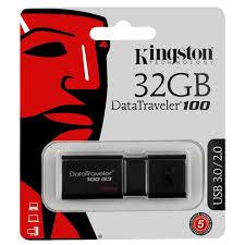 USB <b>Флеш</b>-<b>накопитель Kingston</b> DT100G3/<b>32GB</b>, черный ...