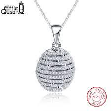 Effie Queen <b>High Quality</b> Trendy <b>Round</b> 925 Sterling Silver ...