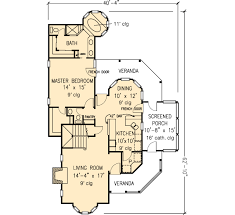 House Plan at FamilyHomePlans comContemporary Country Farmhouse Victorian House Plan Level One