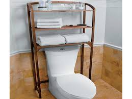 ladder style teak bathroom