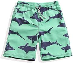<b>Swimming Trunks</b> Mens Shark Printing <b>Loose</b> Beach Shorts Quick ...
