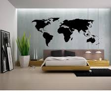 Large World <b>Map Wall Decal</b> Outline World <b>Map Sticker</b> Home ...