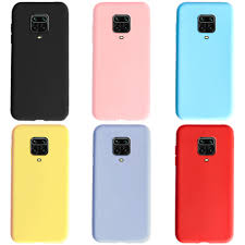 Frosted For <b>xiaomi redmi</b> note 9s 6.67' <b>phone case Solid</b> color TPU ...