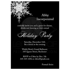 corporate holiday party offset snowflake in black corporate holiday party invitation large offset snowflake on bold black background