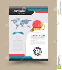 brochure flyer graphic design layout template stock illustration brochure flyer graphic design layout template