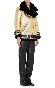 Acne Studios Velocite Metallic-Leather Moto <b>Jacket</b> | Barneys <b>New</b> ...