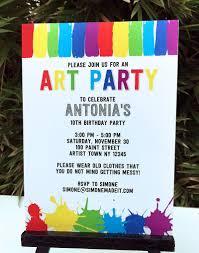 art birthday party theme printables paint party art birthday party theme invitations paint party diy editable template