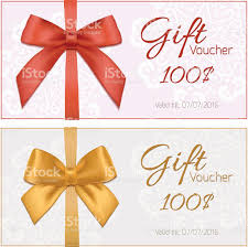 discount voucher template gift certificate template word gift voucher template floral pattern red and gold bow stock