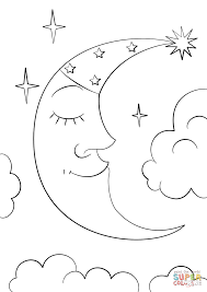 Small Picture Cartoon Crescent Moon coloring page Free Printable Coloring Pages