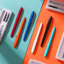 EF <b>KACO EDGE</b> Black Fountain <b>Pen</b> Extra Fine Nib Ink <b>Pens</b> with ...