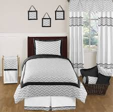black and gray chevron zig zag childrens and kids bedding 4pc twin set by sweet bedding sets twin kids