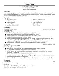event specialist resume sample my perfect resume examples of resumes for administrative positions