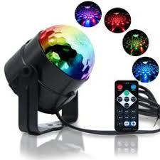 <b>ZjRight</b> Pilot <b>IR</b> LED RGB Kryształ Magic Obracanie Kuli Światła ...