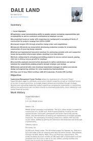 superintendent resume samples construction superintendent resume examples