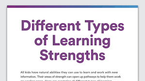 types of learning strengths learning disabilities