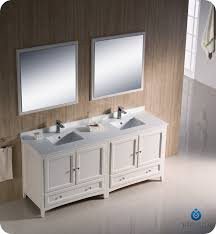traditional style antique white bathroom: quot fresca oxford fvn aw traditional double sink bathroom vanity antique white