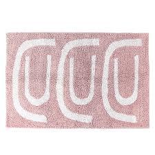 <b>Коврик для ванной Go</b> round цвета пыльной розы Cuts&Pieces ...