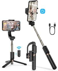 BlitzWolf <b>Bluetooth</b> Selfie Stick <b>Tripod with Stabilizer</b> One-Axis ...