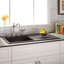bowl kitchen sink composite drainboard