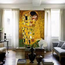 zones bedroom wallpaper: the kiss mural gustav klimt oil painting custom d photo wallpaper waterproof wallpaper classic art bedroom