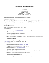 examples of bank teller resumes template examples of bank teller resumes