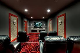 joy carpets home theater contemporary with art deco bold colors built in tv contemporary theater room art deco office contemporary