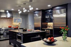 kitchen design entertaining includes: transitional kitchen with modern style in port washington ny